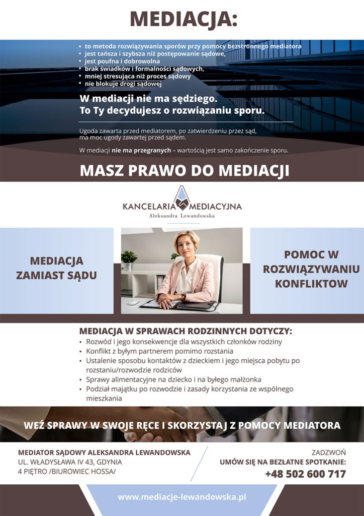mediacje Gdynia, kancelaria mediacyjna Trójmiasto